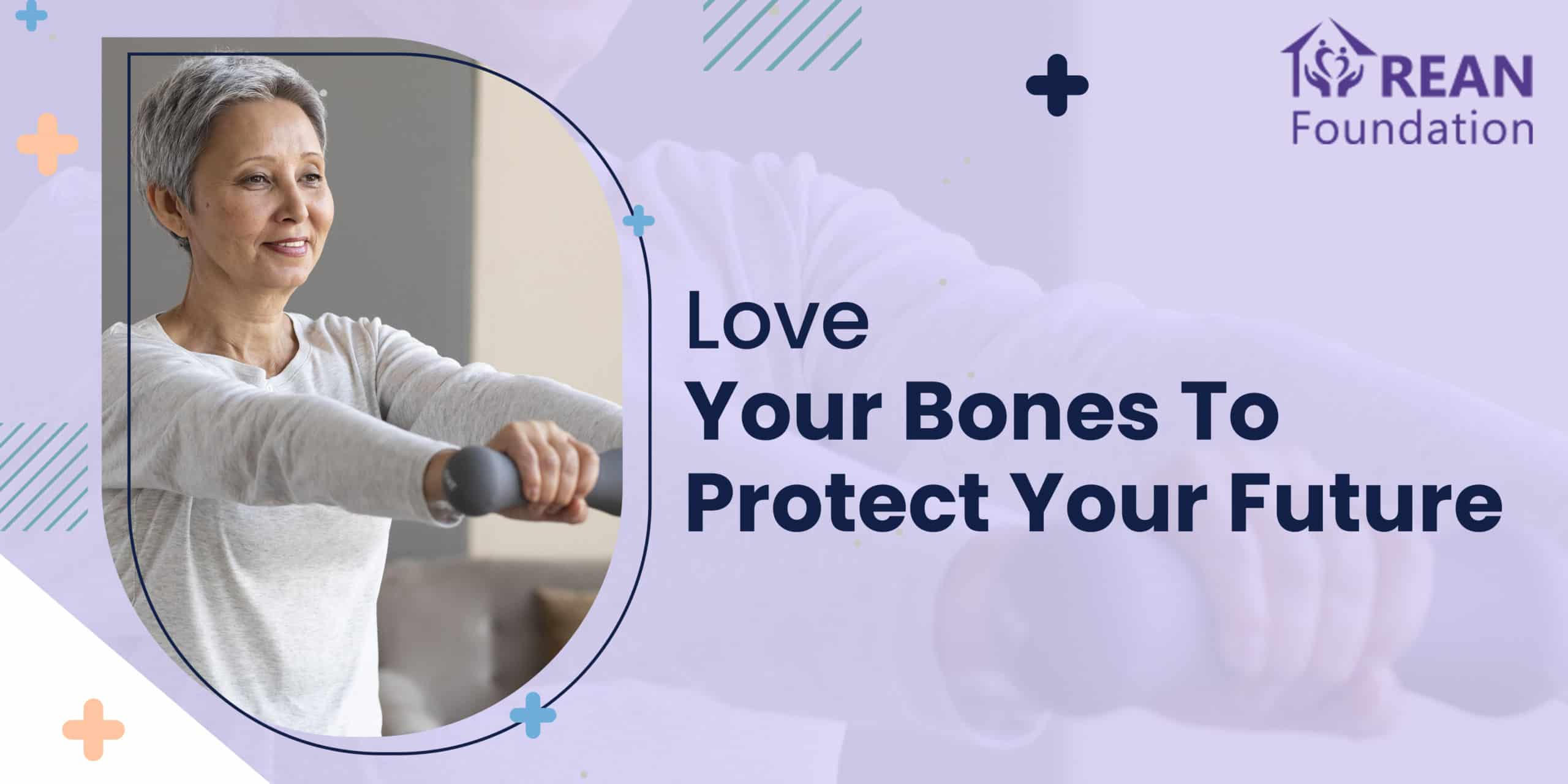 An old woman with a smiling face doing bone strengthening exercises